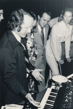 Tom Rhea explaining the MiniMoog and Moog 1130 Percussion Controller, ca. 1970