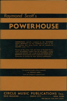 "Vintage piano sheet music for ""Powerhouse"""